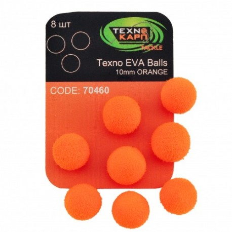 TEXNO EVA BALLS 10MM ORANGE