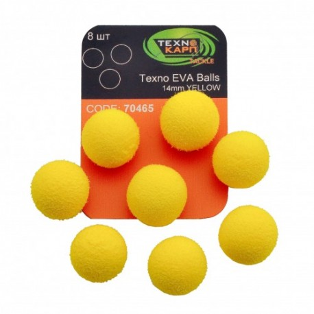 TEXNO EVA BALLS 14MM YELLOW