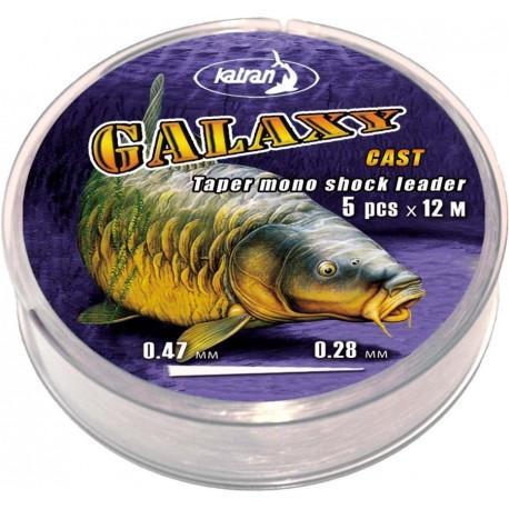 Моно шок-лидер Galaxy Cast 0.26мм-0.47мм
