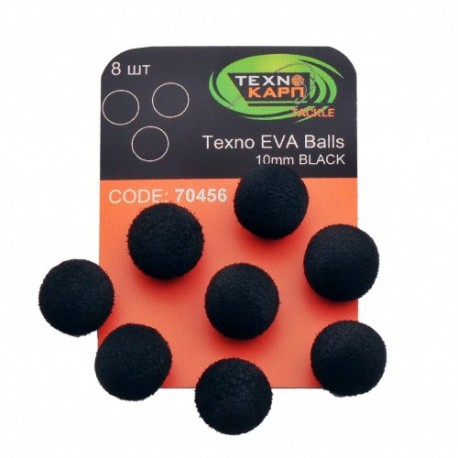 TEXNO EVA BALLS 10MM BLACK
