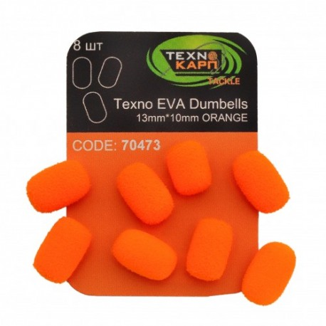 TEXNO EVA DUMBELLS 13MM*10MM ORANGE